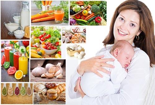 Mẹ sau sinh và cho con bú NÊN ăn gì TỐT và LỢI SỮA?